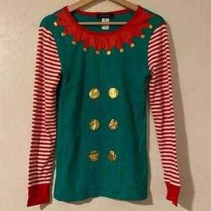 Green and Red Holiday / Christmas Elf Shirt